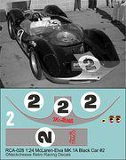 RCA-028 1-24 McLaren M1A #2 black car, DKK 60,- / € 8,80 + postage