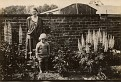 Mom (age 2) and Grandmother in the manse garden at Dumfries