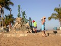Barra de Navidad. Neptune statue