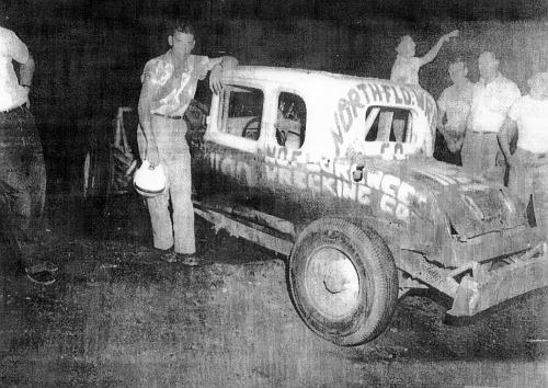 Carol May car #1190jr at Tri Cities 1955
