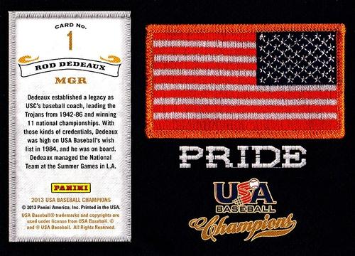 2013 Panini USA Baseball Pride #01 (2)