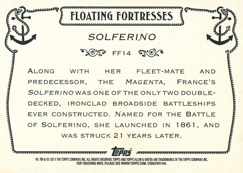 2011 Allen & Ginter Floating Fortresses #FF14 (2)