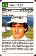 1987 Ace Fact Pack Nelson Piquet