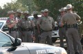 Texas DPS, staging for bus escort