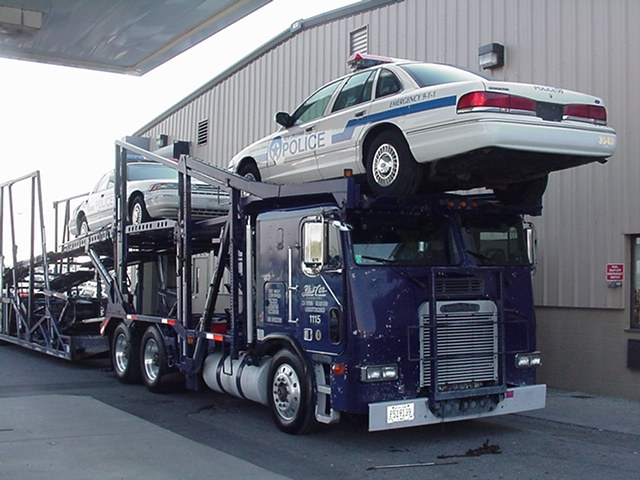 Vehicles on Car Carrier