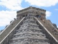 Chichen Itza Pyramid, Mexico.  There are 365 steps.  One for each day of the year (divided up by 91 steps on each side plus one platform making up the total.