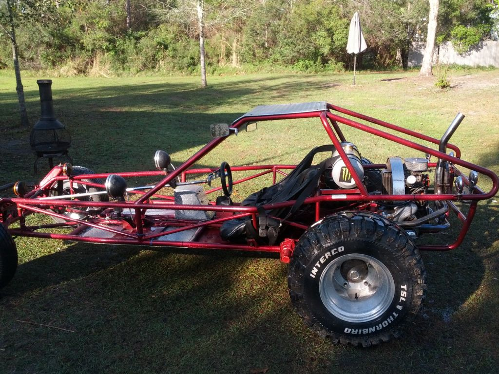 Photo: Red Rail with top 3   V W  Dune Buggy-Sand Rail album