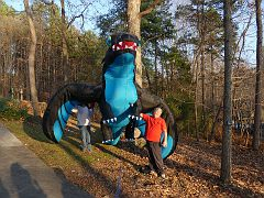 NEW!  Dragon, 45 feet, inflated with a leaf blower for the photo op!