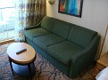 New Sofa in Balcony Cabin Deck 7 FWD (STB)