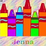 Crayons at schoolJenna