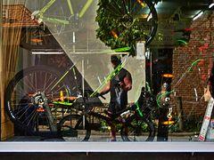 Schaufenster Fahrradhaus in der Brennerstraße