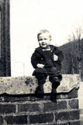Luke West, on steps at Norma School.