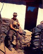 E. Ray at TAN CAHN, Vietnam, 1969. Outside building