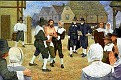 Obadiah Holmes, painting depicting the whipping of Obadiah Holmes, Boston, SEP 1651