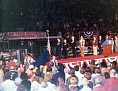 President Gerald Ford (3rd from left on stage) campaigning in Lubbock, Texas, 1976