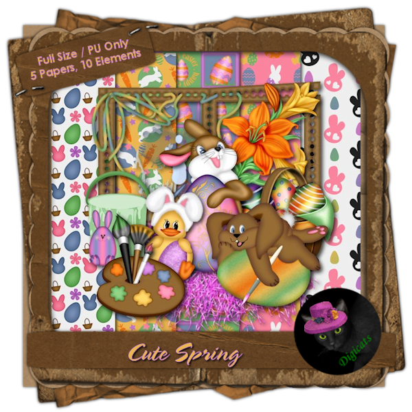 Cute Spring Mini Kit 2 - Painting Rabbits