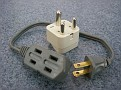 India Plug Adaptor needed for India with small USA extension cord to be able to plug in multiple items in case there is only one receptacle.