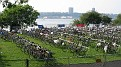 Nautica Triathlon NYC Transition Area.