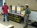 Jerry and Mike discussing hive components.