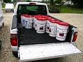 Chilean Grape Juice Purchase / 60 Gallons in 10 six gallon pails...  My pickup is perfect for this!!!