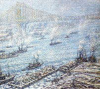 East River, New York, Winter [undated]