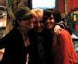 Ray's daughters, Holly and Angela, with friend Sandy Little
