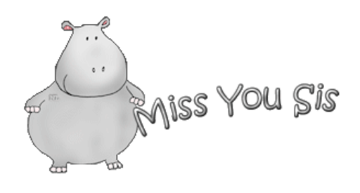 Miss You Sis - CuteHippo2018