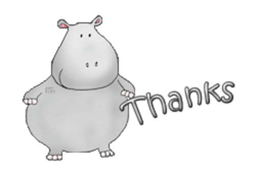 Thanks - CuteHippo2018