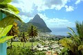 the Pitons as viewed from a restaurant and hotel - Las Villas de Pitons