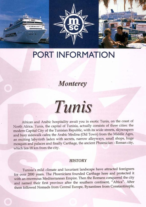 Tunis Port Information Page 1