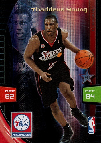 2009-10 Adrenalyn XL Special Thaddeus Young (1)