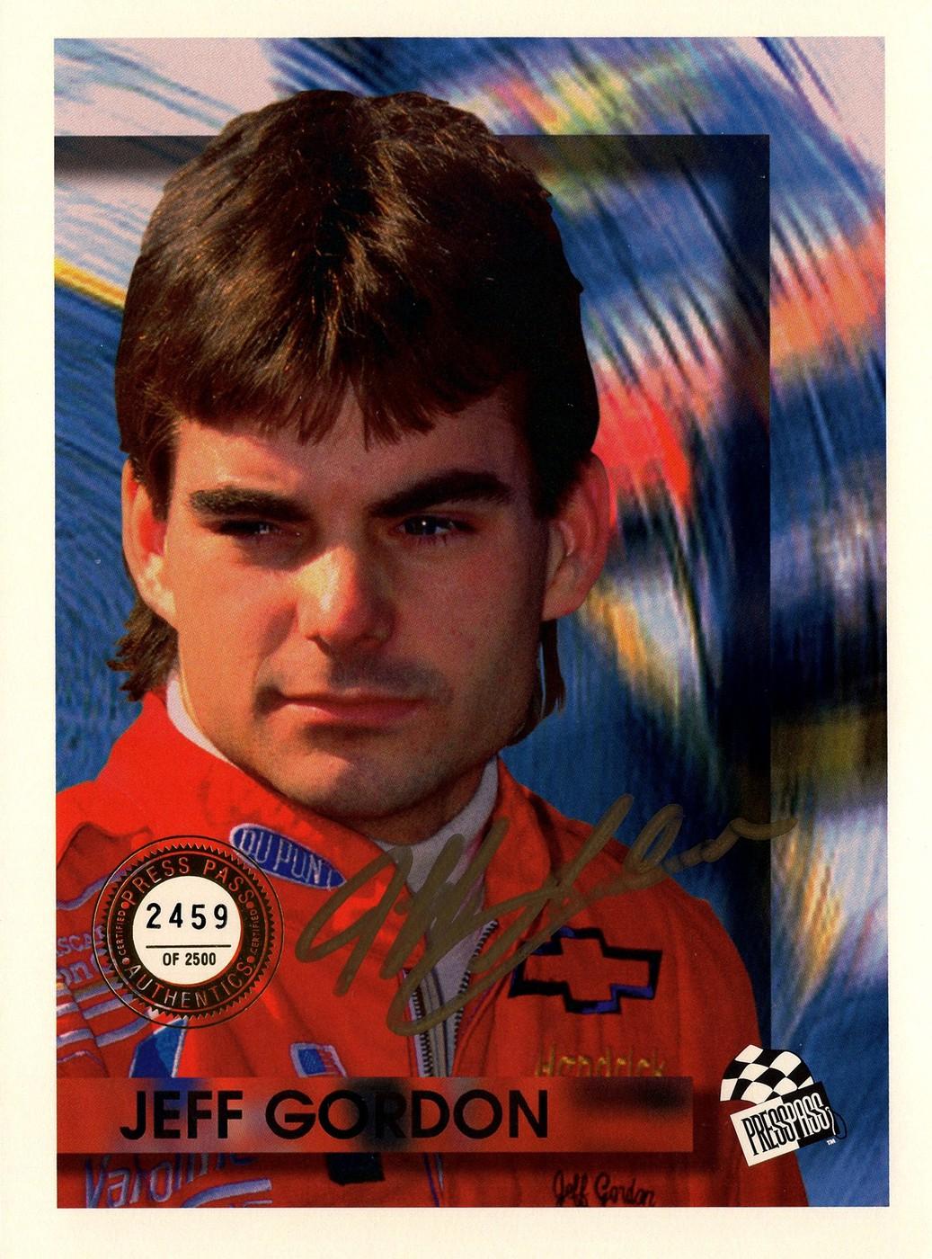 1994 Press Pass Authentics Autograph Jeff Gordon (1)