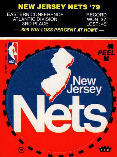 1979-80 Fleer NBA Logo Stickers New Jersey Nets (1)