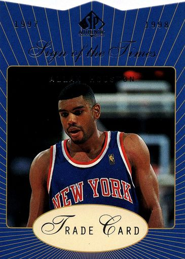 1997-98 SP Authentic Sign of the Times Expired Redemption Allan Houston (1)