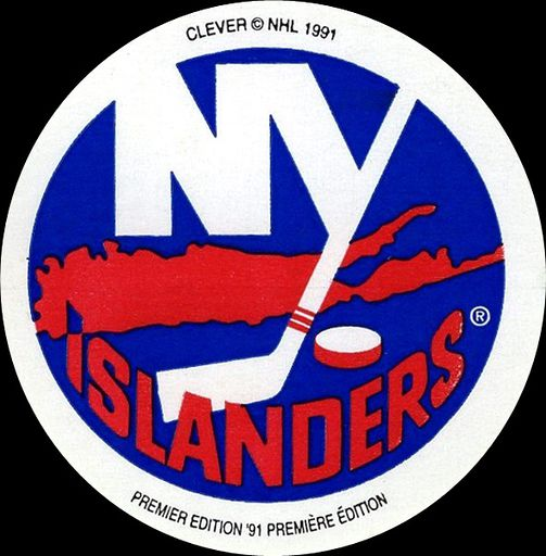 1991-92 Clever Logo Stickers New York Islanders (1)