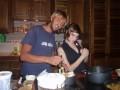 Rob and Monika at Monika's Divemaster Dinner