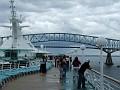 About to sail under Baltimore's Key Bridge