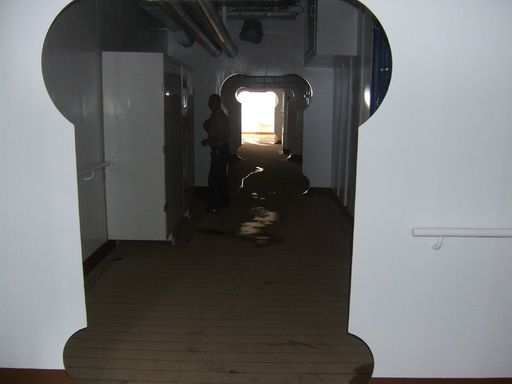 """Tunnel of Love"" Forward on the Promenade Deck"